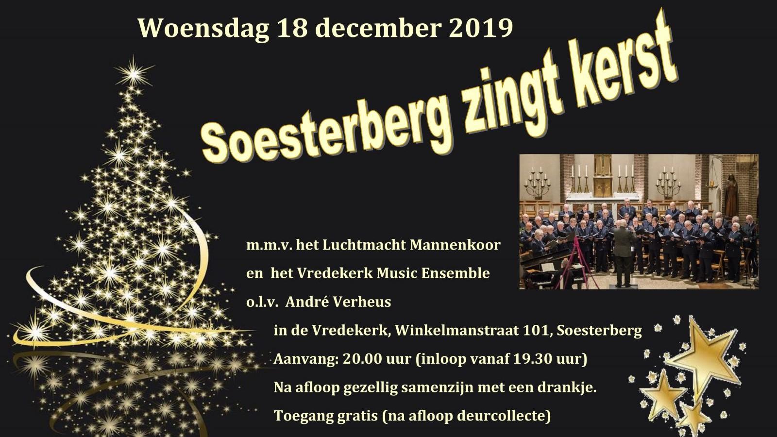 poster soesterberg zingt kerst 2019