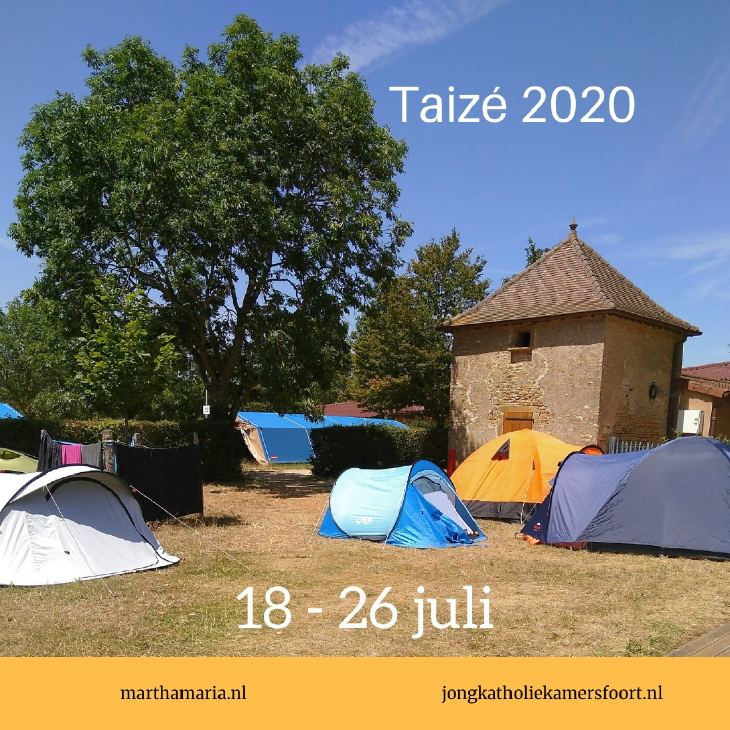 2020 Taizé jongerenreis website