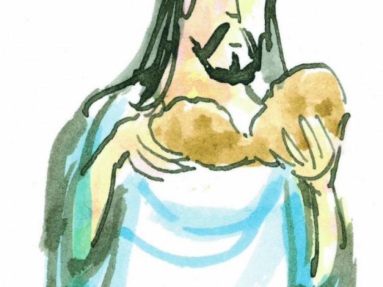 Blijf dit doen, Jezus breekt brood