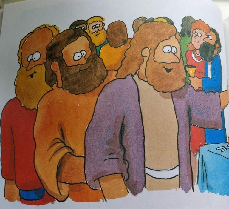 Jezus komt met zijn vrienden in Kana
