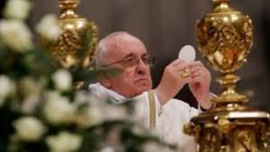 Franciscus eucharistie